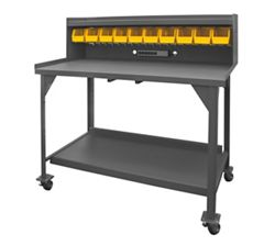 "Mobile Industrial Workbench with Riser - 60""W x 30""D"