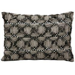 "kathy ireland by Nourison Rose Pattern Rectangular Pillow - 14"" x 10"""