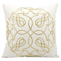 "kathy ireland by Nourison Beaded Square Accent Pillow - 18""W x 18""H"
