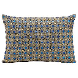 """kathy ireland by Nourison Marble Bead Accent Pillow - 14""""W x 10""""H"""