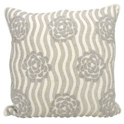 "kathy ireland by Nourison Rose Pattern Square Pillow - 20"" x 20"""