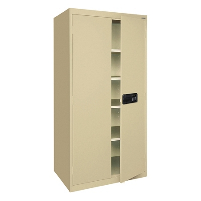 "46""W x 24""D Extra Wide Storage Cabinet with Keyless Electronic Lock"