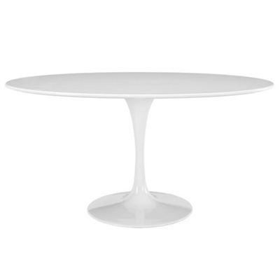 "60"" Oval-Shaped Wood Top Dinin"