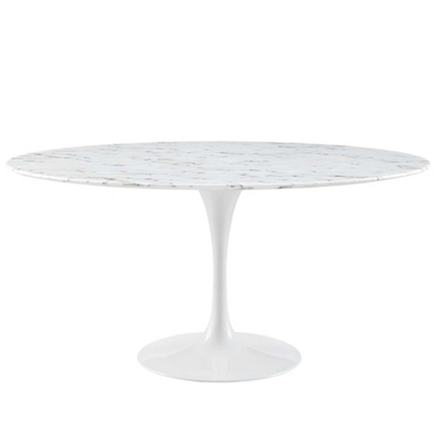 "60"" Artificial Marble Dining T"