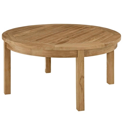 Outdoor Patio Teak Round Coffe