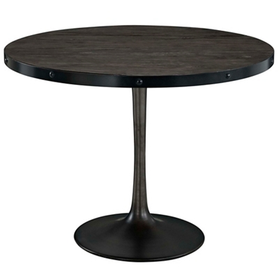 Wood Top Round Table
