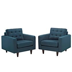 Armchair Upholstered Set of 2