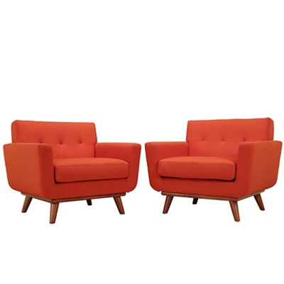 Armchair Wood Set of 2