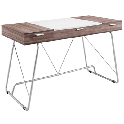 "Panel Two Tone Computer Desk - 47""W"