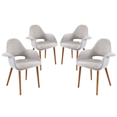 Fabric Armchair Set of 4