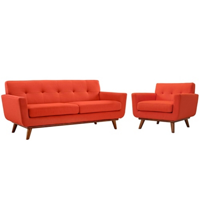 Armchair and Loveseat Set of 2