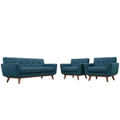 Armchairs and Loveseat Set of
