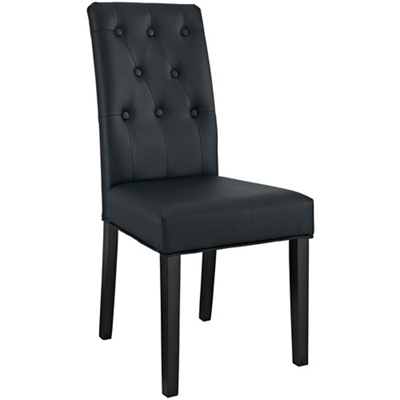 Tufted Back Vinyl Side Chair