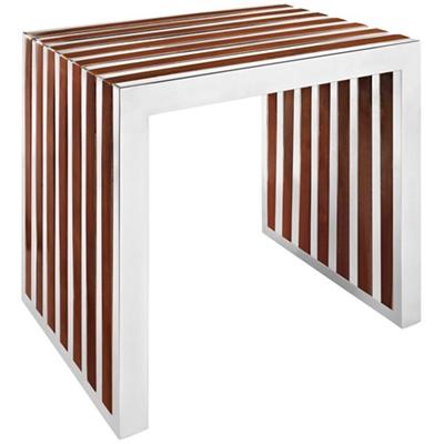 Small Wood Inlay Bench
