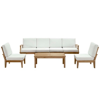 7 PC Outdoor Patio Teak Sofa S