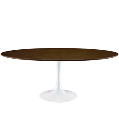 """78"""" Wood Oval Table"""