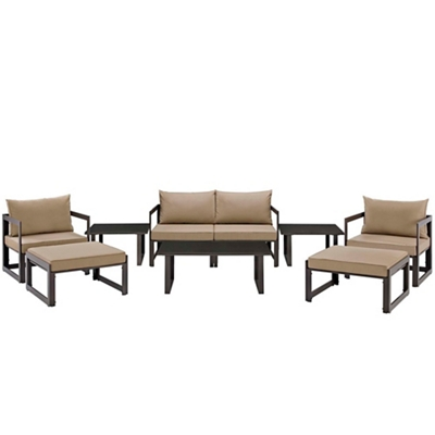 9 PC Outdoor Patio Sectional S