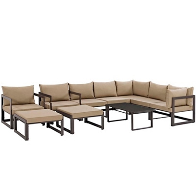 10 PC Outdoor Patio Sectional