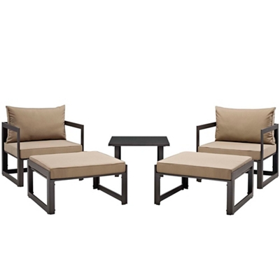 5 PC Outdoor Patio Sectional S