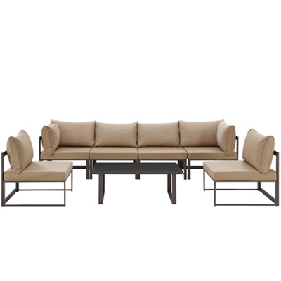7 PC Outdoor Patio Sectional S