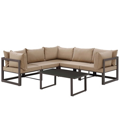 6 PC Outdoor Patio Sectional S