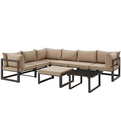 8 PC Outdoor Patio Sectional S