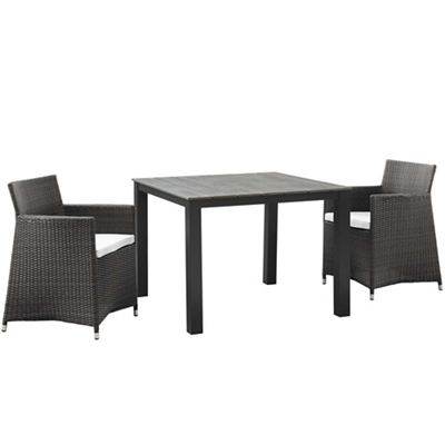 3 PC Outdoor Patio Wicker Dini