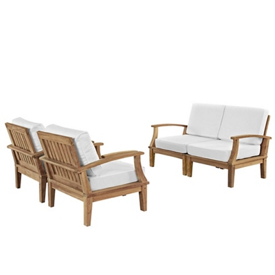 4 PC Outdoor Patio Teak Sofa S
