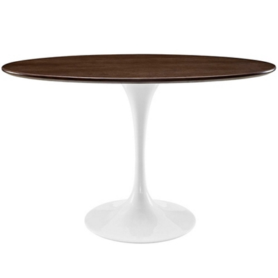 "48"" Oval-Shaped Walnut Dining"