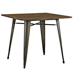 "36"" Square Wood Table"
