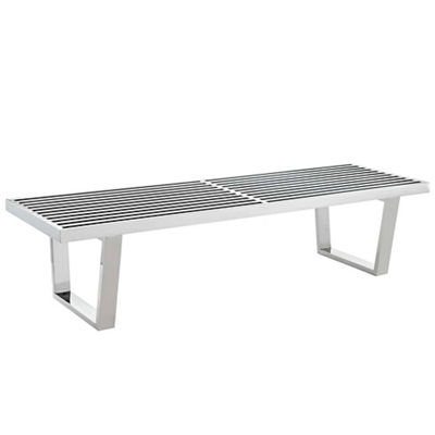 5' Stainless Steel Bench