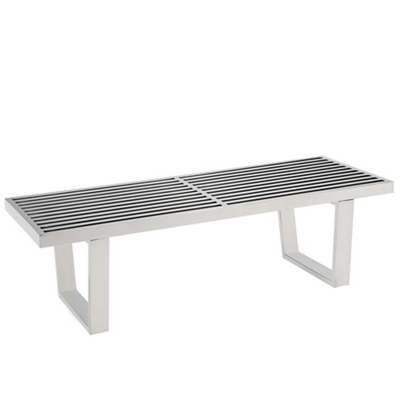 4' Stainless Steel Bench