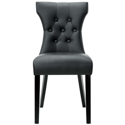 Tufted Vinyl Side Chair