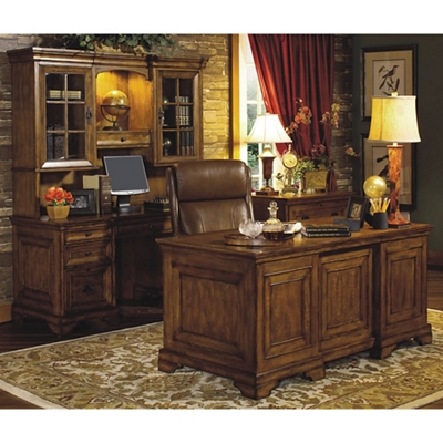 Executive Desk With Credenza And Hutch   14268 And More Lifetime Guarantee