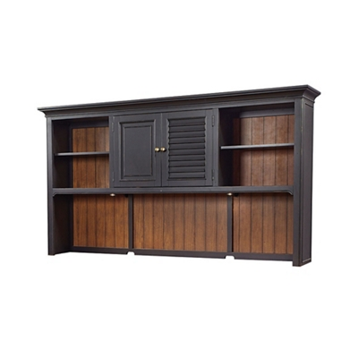 "Two Tone Hutch with Reversible Door Panels - 85""W"