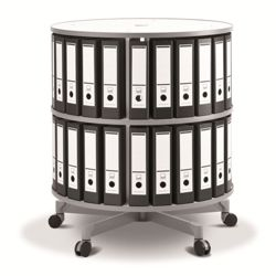 Fully Rotating Binder Carousel - 2 Tiers