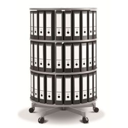Fully Rotating Binder Carousel - 3 Tiers