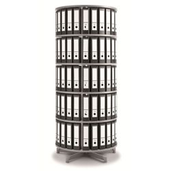 Fully Rotating Binder Carousel - 5 Tiers