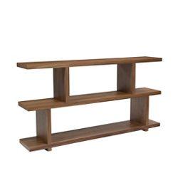 "Three Shelf Small Bookcase Walnut - 33""H"