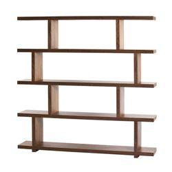 "Five Shelf Large Bookcase Walnut - 63""H"