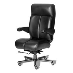 24/7 Big and Tall Chair with Flip Arms in Vinyl