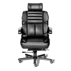 24/7 Big and Tall Chair with Headrest and Leather Front with Vinyl Sides