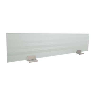 "60""W Single Desk Glass Privacy Panel"
