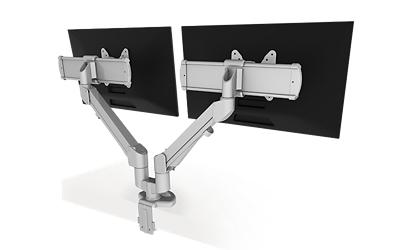 Dual VESA Monitor Arms
