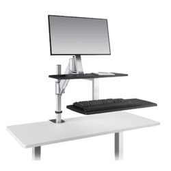 Height Adjustable Single Monitor Station