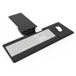 Keyboard Tray With Arm for Shallow Work Surfaces