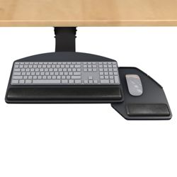 Lift and Lock Articulating Arm With Keyboard and Mouse Tray