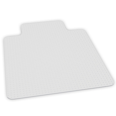 "Low Pile Chair Mat 45""W x 53""D with Lip for Carpet Floors"