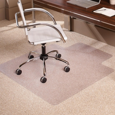 "Low Pile Chair Mat 36""W x 48""D with Lip for Carpet Floors"
