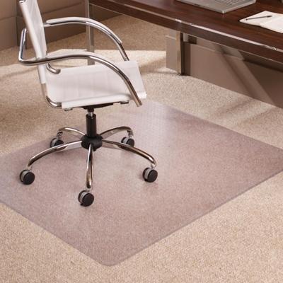 "Low Pile Chair Mat 46""W x 60""D for Carpet Floors"